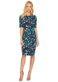 Ellen Tracy Printed Ponte Dress