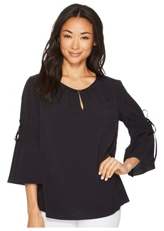 Ellen Tracy Ruched Sleeve Top