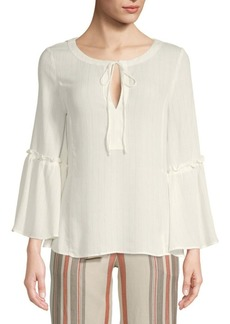 Ellen Tracy Ruffled Bell-Sleeve Blouse