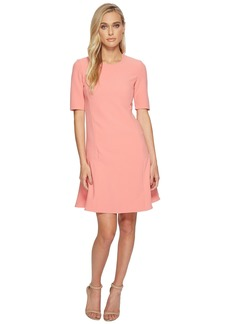 Ellen Tracy Seamed Flounce Dress