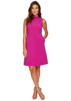 Ellen Tracy Seamed Mock Neck Dress