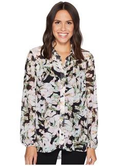Ellen Tracy Shirred Yoke Shirt