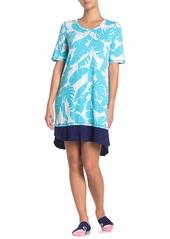 Ellen Tracy Sleep Shirt & Socks PJ Set