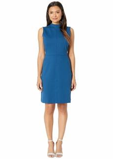 Ellen Tracy Sleeveless Mock Neck Dress