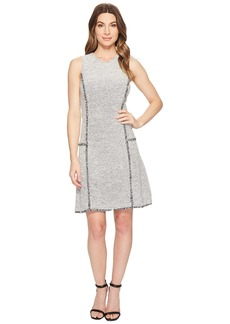 Ellen Tracy Sleeveless Seamed Flounce Dress