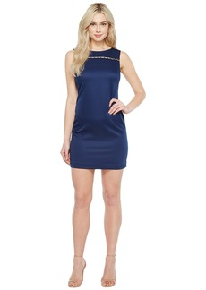 Ellen Tracy Solid Pique Dress with Hardware Detail