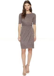 Ellen Tracy Sweater Dress with Hardware Detail At The Waist