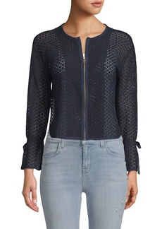 Ellen Tracy Textured Short Jacket