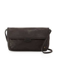 Elliott Lucca Tristan Metallic Leather Woven Clutch Bag