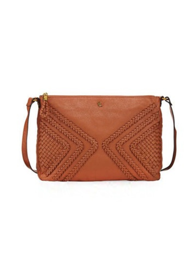 Elliott Lucca Woven Leather Crossbody Bag