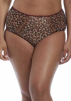 Elomi Women's Plus Size Sachi Wild Leopard Brief Print XL