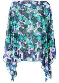 Emanuel Ungaro printed cape blouse