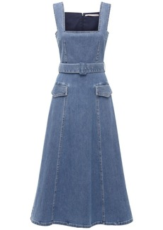 Emilia Wickstead Cotton Denim Dress W/belt