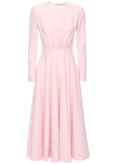 Emilia Wickstead Double Crepe Flared Midi Dress