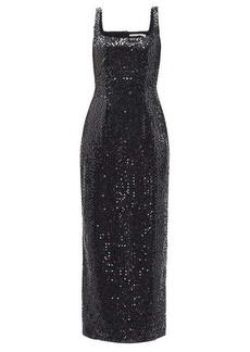 Emilia Wickstead Basset scoop-neck sequinned mini dress