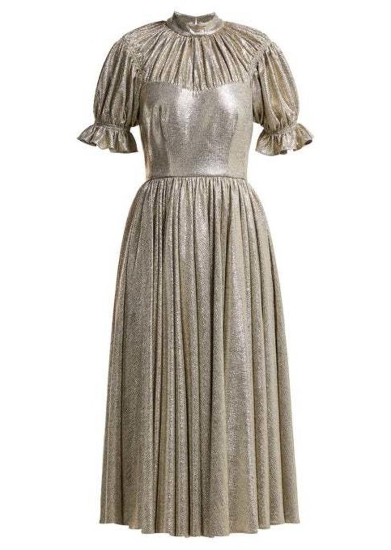 Emilia Wickstead Benito metallic gathered midi dress