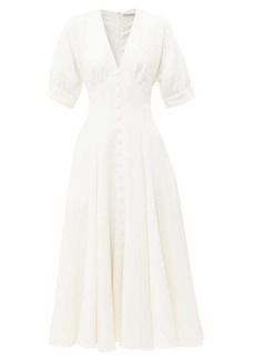 Emilia Wickstead Bria flared wool-crepe midi dress