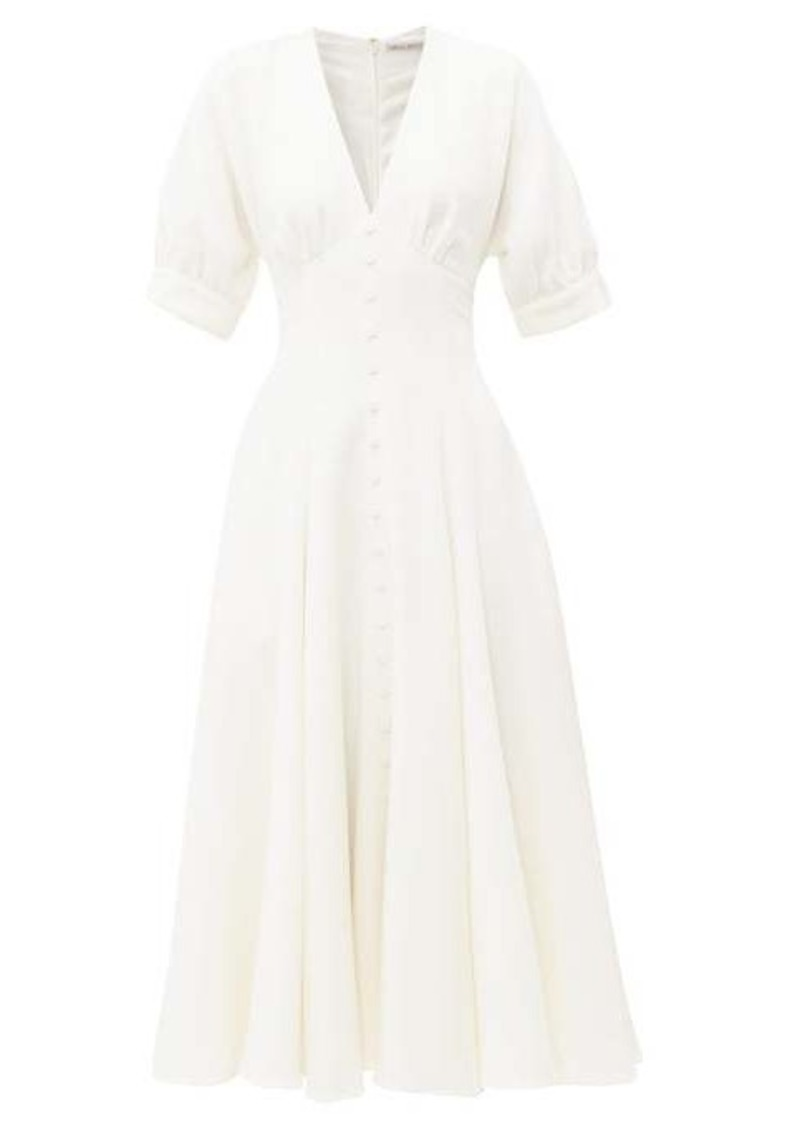 Emilia Wickstead Bria flared wool-crepe midi dress