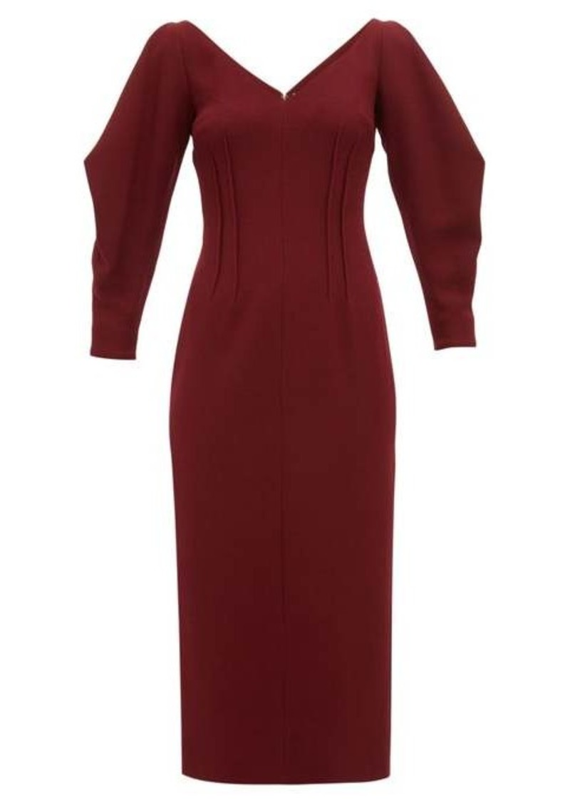 Emilia Wickstead Calla wool-crepe midi dress