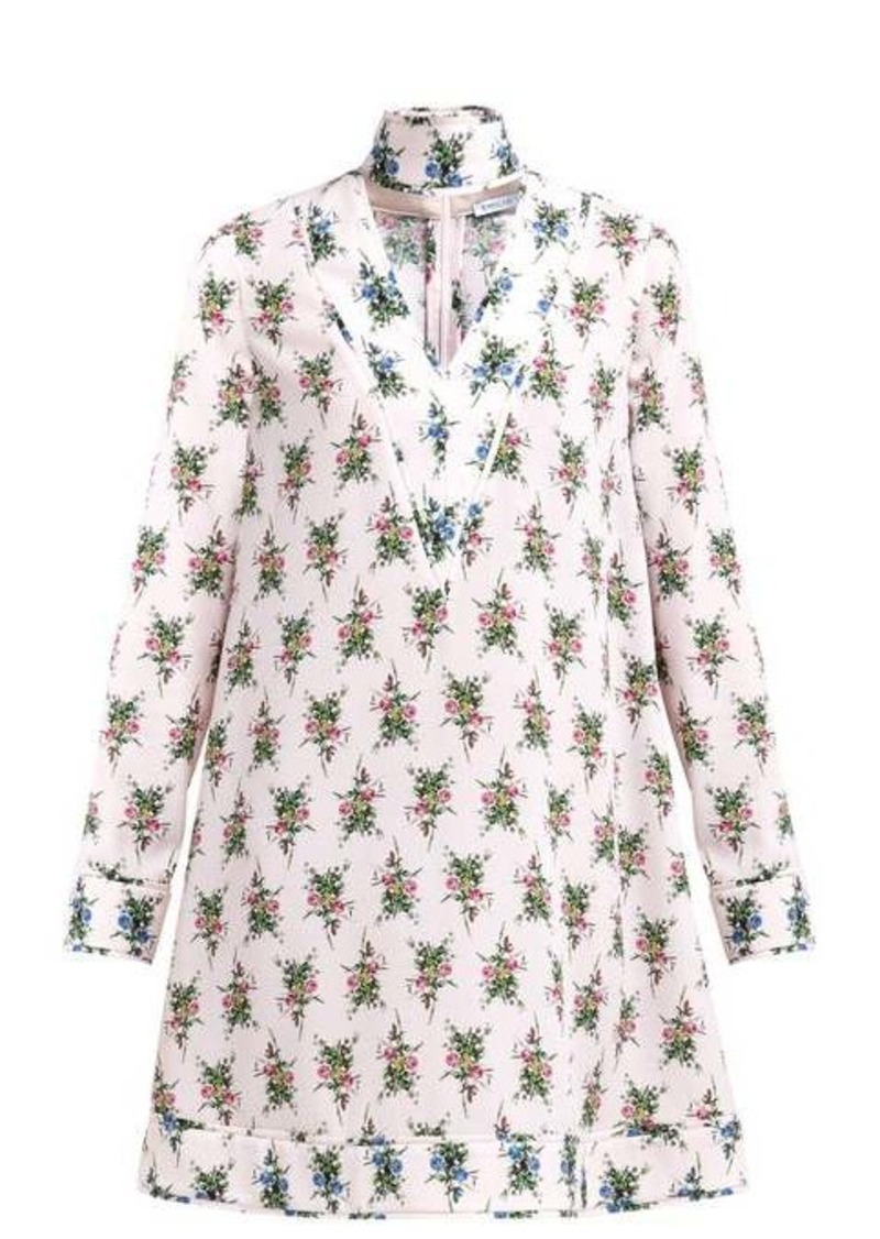 Emilia Wickstead Camomile floral-print crepe mini dress