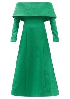 Emilia Wickstead Carole off-the-shoulder cloqué midi dress