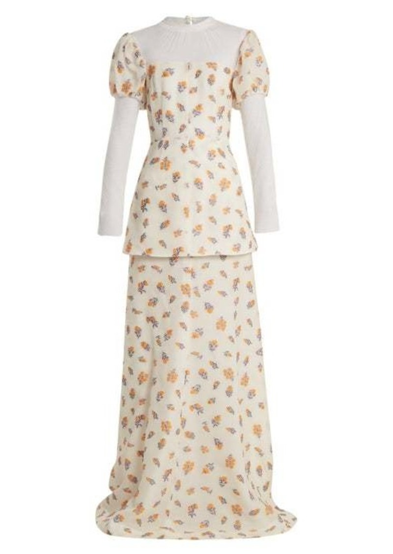 Emilia Wickstead Clemmie tulle-panel cloqué gown