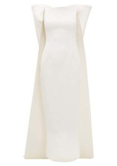 Emilia Wickstead Cruz bow-appliqué cloqué-crepe dress