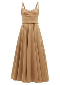 Emilia Wickstead Elita sweetheart-neck cady midi dress