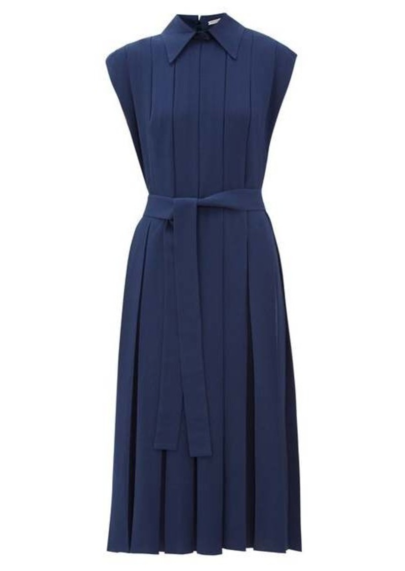 Emilia Wickstead Evanthe pleated crepe midi dress