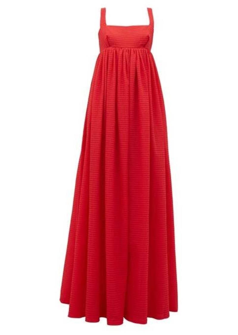 Emilia Wickstead Evelina square-neck seersucker crepe dress
