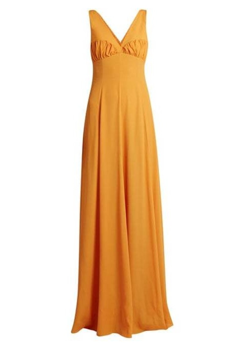 Emilia Wickstead Fanina crossover-back crepe gown