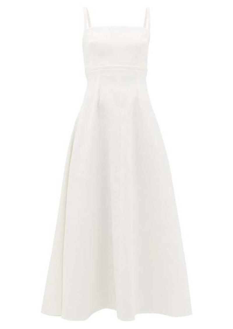 Emilia Wickstead Freya square-neck plissé dress