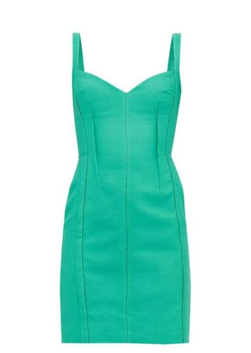 Emilia Wickstead Fyfe cloqué mini dress