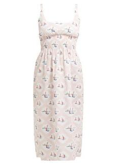 Emilia Wickstead Giovanna boat-print dress