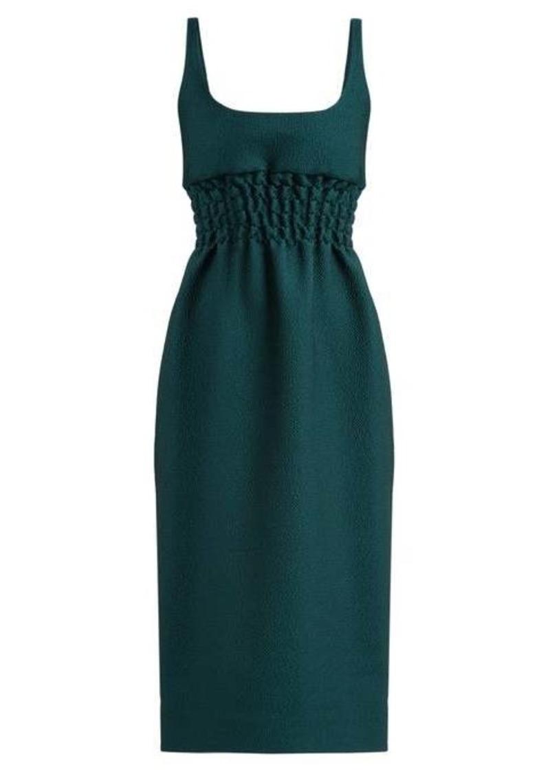 Emilia Wickstead Giovanna ruched-waist double-cloqué dress