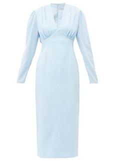 Emilia Wickstead Iliana gathered crepe midi dress