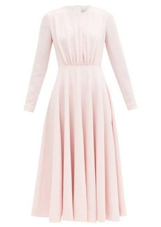 Emilia Wickstead Jorgie gathered-bodice flared crepe midi dress