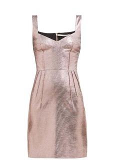 Emilia Wickstead Judita lamé mini dress