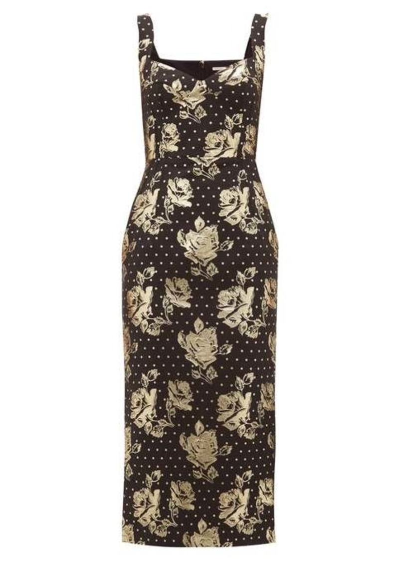 Emilia Wickstead Juditella floral-brocade pencil dress
