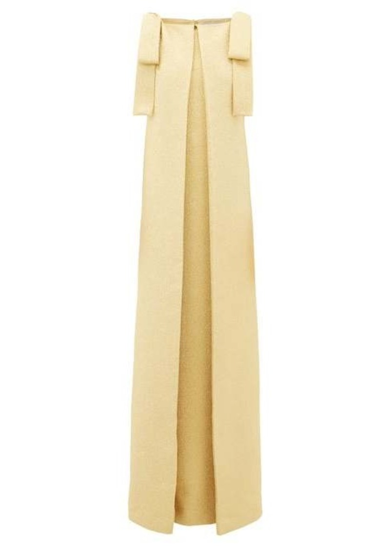Emilia Wickstead Julie bow-shoulder metallic-cloqué gown