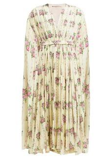 Emilia Wickstead Leona Sardegana Rosewood-print silk dress