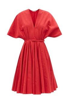 Emilia Wickstead Lilith cotton-blend moiré A-line dress