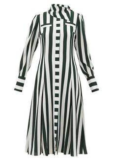Emilia Wickstead Lucille striped georgette shirt dress