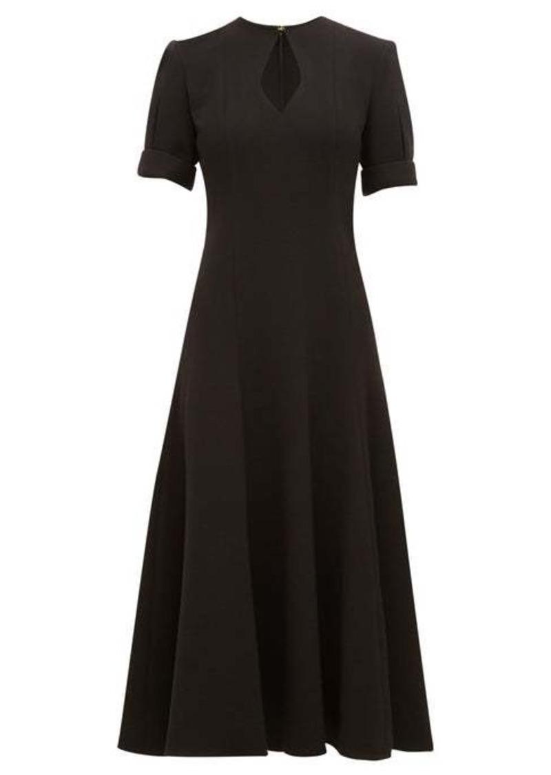Emilia Wickstead Ludovica keyhole-slit wool-crepe midi dress