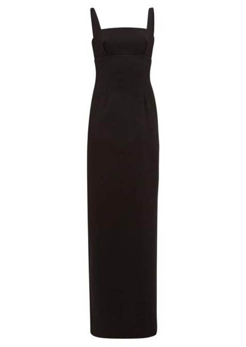 Emilia Wickstead Magdalina panelled double-crepe pencil dress