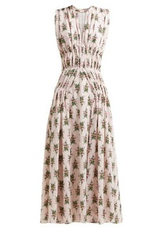 Emilia Wickstead Marguerite floral-print crepe midi dress