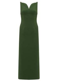 Emilia Wickstead Mathilda sweetheart-neckline crepe midi dress