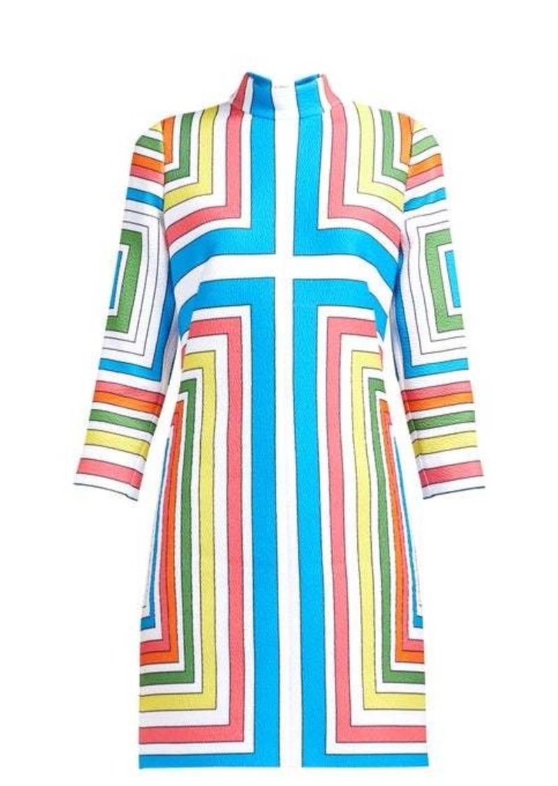 Emilia Wickstead Melodie cloqué geometric dress