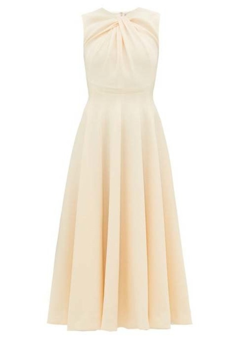 Emilia Wickstead Meryl knotted panelled double-crepe midi dress