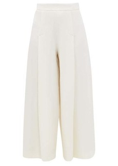 Emilia Wickstead Pacifica wool-crepe wide-leg trousers
